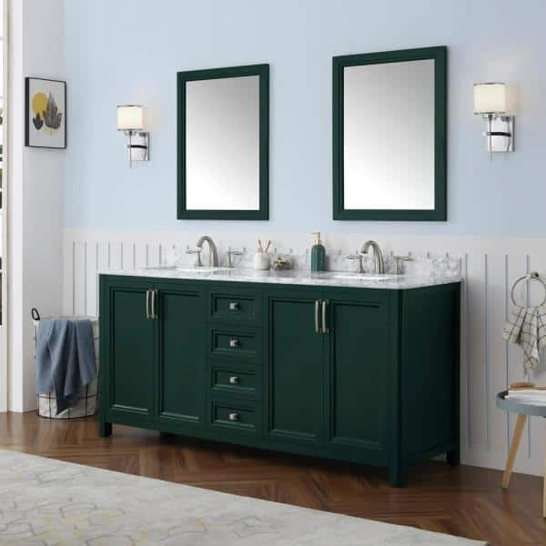 Home Decorators Collection Sandon 72 In, Green Bathroom Cabinet