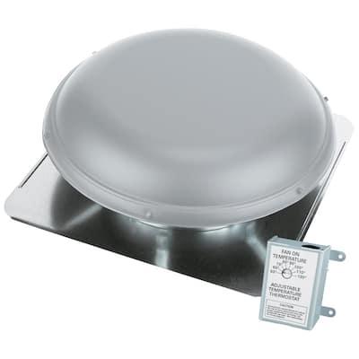 1320 CFM Aluminum Finish Power Roof Mount Attic Ventilator