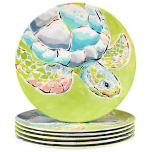 Deep Sea 6-Piece Multicolored Melamine 11 in. Dinner Plate Set (Service for 6)