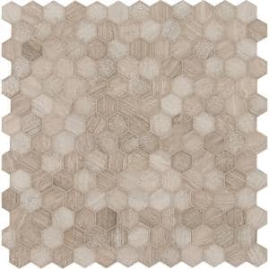 Honeycomb Hexagon 12 in. x 12 in. x 10 mm Mixed Marble Mosaic Tile (9.8 sq. ft. / case)