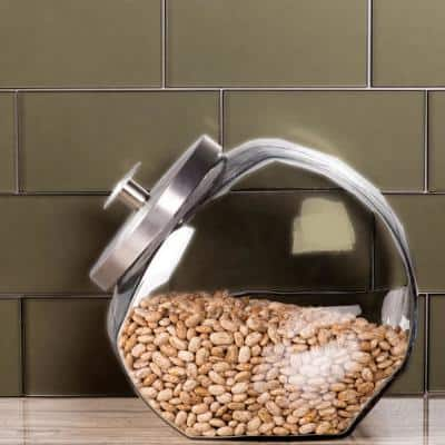 Forever Bronze Straight Edge Subway 3 in. x 6 in. Frosted Matte Glass Subway Tile (1 sq. ft.)