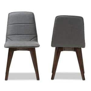 Karalee Dark Gray Fabric Dining Chair (Set of 2)