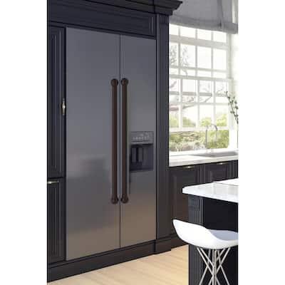 18 in. Center-to-Center Refrigerator Pull in Oil Rubbed Bronze