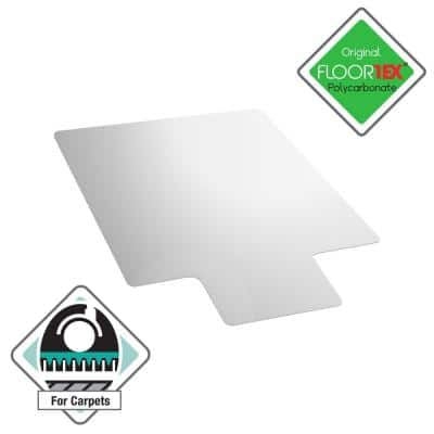Ultimat® Polycarbonate Lipped Chair Mat for Carpets over 1/2 in. - 48 x 53 in.