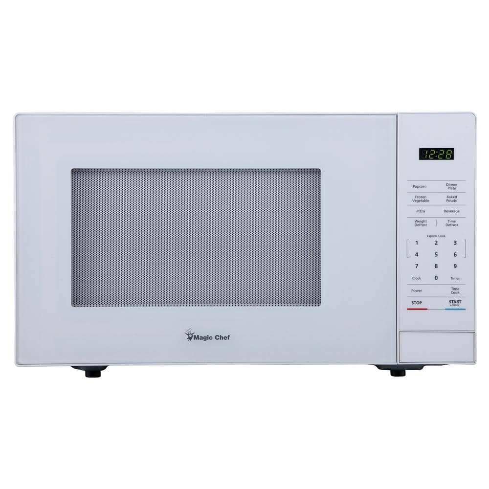 magic chef 1 1 cu ft countertop microwave in white hmm1110w the home depot