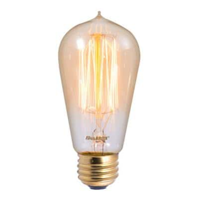 60-Watt ST18 Incandescent Light Bulb Medium Base (E26) Antique Nostalgic Thread 2200K (4-Pack)
