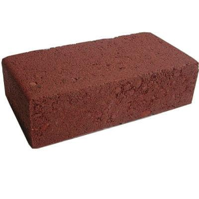2 in. x 3 in. x 7 in. Smooth Red Concrete Brick
