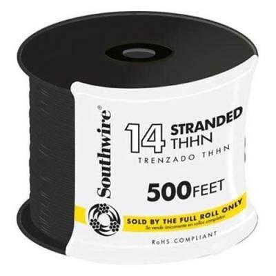 500 ft. 14-Gauge Black Stranded CU THHN Wire