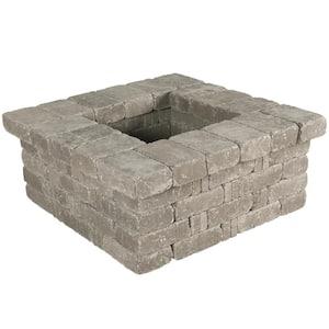 RumbleStone 42 in. x 17.5 in. x 42 in. Square Concrete Planter Kit in Greystone