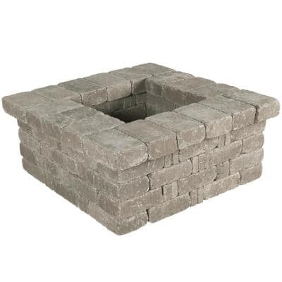 RumbleStone 42 in. x 17.5 in. x 42 in. Square Concrete Planter Kit in Greystone