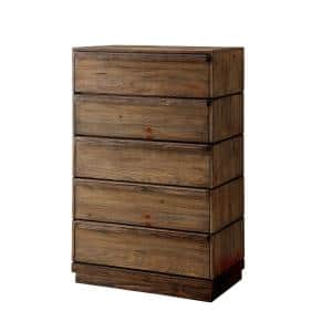 Coimbra Rustic Natural Tone Transitional Style Chest of Drawers