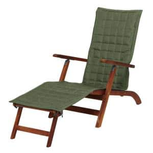 Montlake FadeSafe 69 in. L x 19 in. W Heather Fern Patio Steamer Chaise Slipcover
