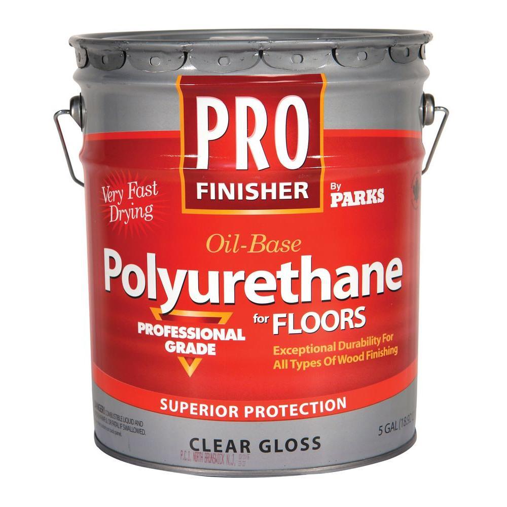 Pro Finisher 5 Gal. Clear Gloss 450 VOC Oil-Based Interior Polyurethane for Floors