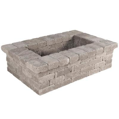 RumbleStone 63 in. x 17.5 in. x 42 in. Rectangle Concrete Planter Kit in Greystone