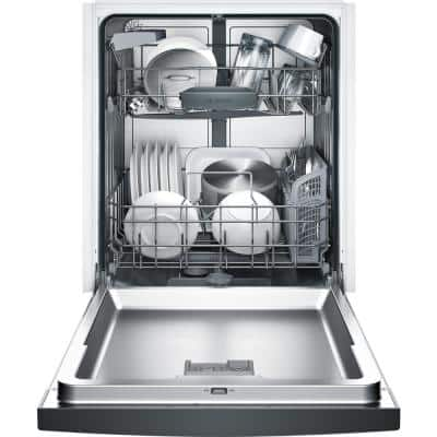 100 Series 24 in. Black Front Control Tall Tub Dishwasher with Hybrid Stainless Steel Tub and Utility Rack, 50dBA