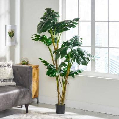 Benoit 6 ft. Green Artificial Monstera Tree