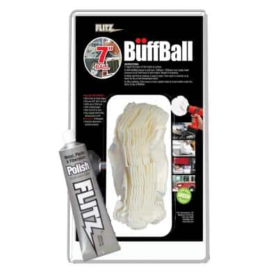 7 in. X-Large White Original Buff-Ball in Clamshell