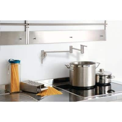 Parma Wall-Mounted Potfiller in Stainless Steel