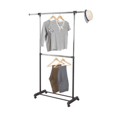 Silver Steel Expandable Clothes Rack (60 in. W x 73 in. H)