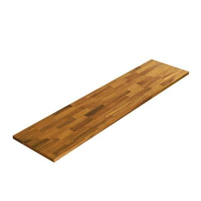 3/4 in. x 12 in. x 4 ft. Square Edge, Golden Teak Finish, Acacia Project Panel Hardwood Board