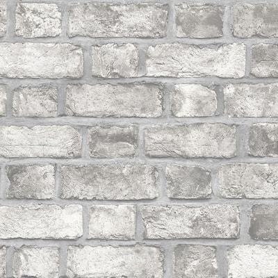 Farmhouse Brick Vinyl Roll Wallpaper (Covers 55 sq. ft.)