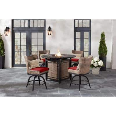 Fire Pit Included Patio Dining, Bar Height Patio Table With Fire Pit