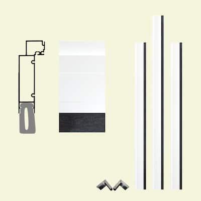 Pro Series 7-1/2 in. x 96 in. x 96 in. White Aluminum Clad Garage Door Frame with Crownline Casing