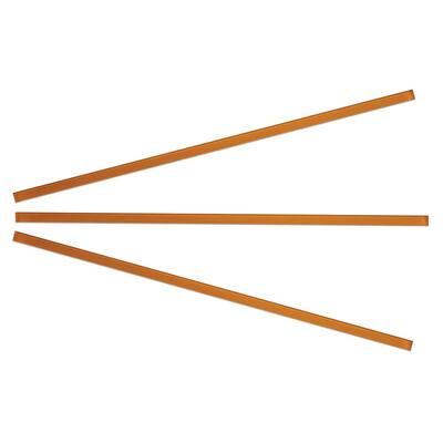 Orange 3/8 in. x 15 in. Glass Pencil Tile Trim (3-Pack)