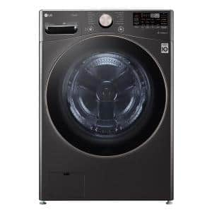 27 in. 4.5 cu. ft. Ultra Large Capacity Black Steel Smart Front Load Washing Machine with TurboWash360