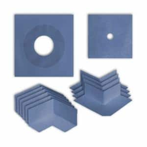 0.8 ft. x 0.8 ft. x 0.02 in. 12-Piece Waterproof Underlayment Kit Use for Plumbling Fixtures and Corners