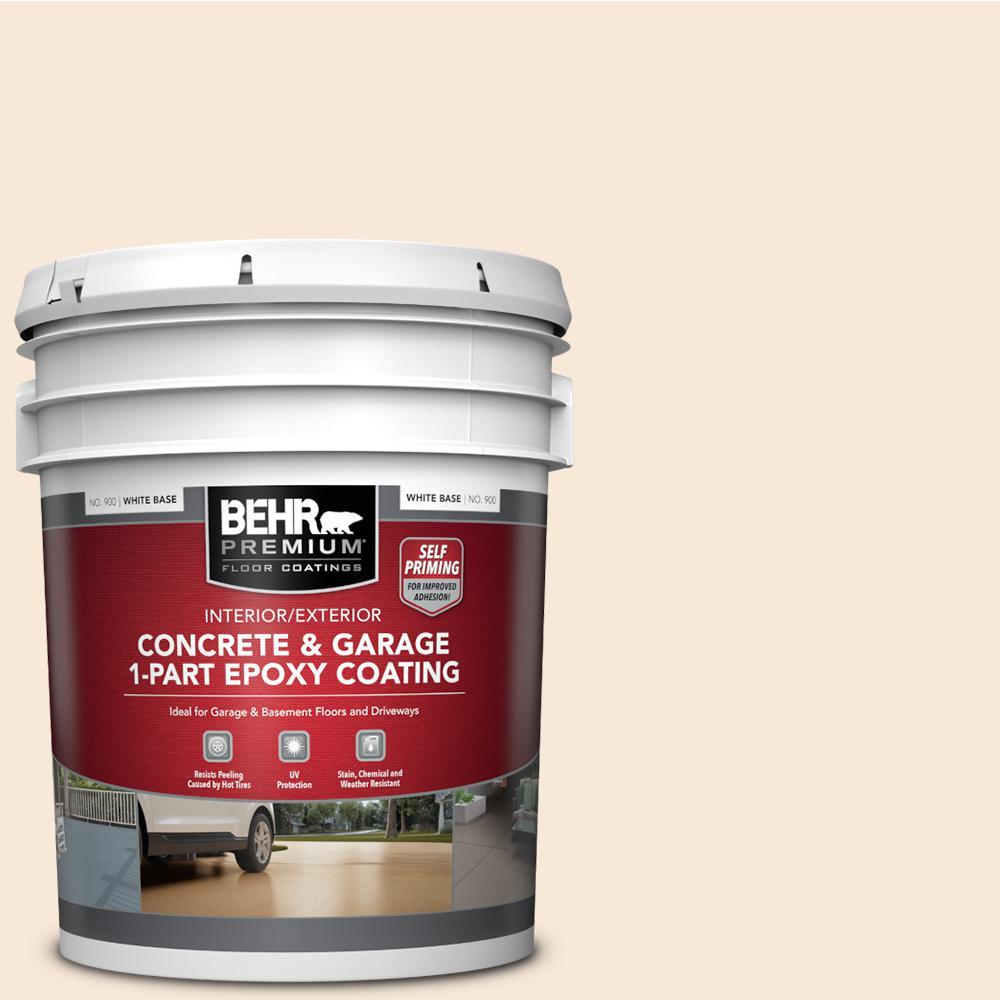 5 gal. White Self-Priming 1 Part Epoxy Interior/Exterior Concrete and Garage Floor Paint