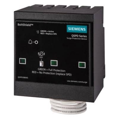 BoltShield QSPD 240/120V, 3-Pole, Three Phase, 4-Wire 65kA Plug-In Surge Protection Device