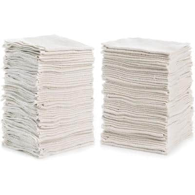 White Shop Towels (50-Pack)