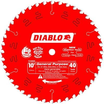10 in. x 40-Teeth General Purpose Saw Blade