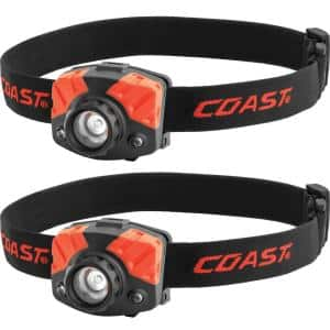 500 Lumens Tri-Color Focusing LED Headlamp (2-Pack)