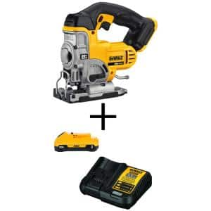 20-Volt MAX Cordless Jig Saw with (1) 20-Volt Battery 3.0Ah & Charger