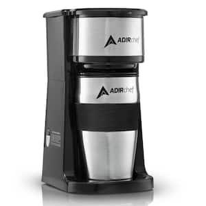 Grab'n Go Black Single Serve Coffee Maker with Stainless Steel Travel Mug