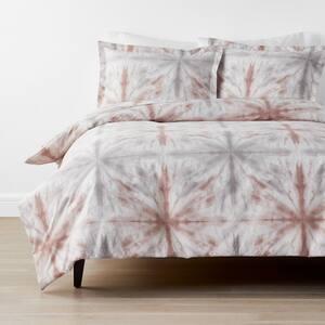 Cstudio Home Tie Dye 3-Piece Multicolored Geometric Organic Cotton Percale Queen Duvet Cover Set