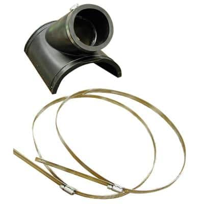 4 in. Plastic - 12 in. Clay Saddle x 4 in. Flexible PVC Saddle Wye Fitting SCH 40 Cast Iron or SDR35 Inlet