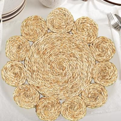 15 in. Natural Jute LR32013-NAT15 Natural Placemat (Set of 2)