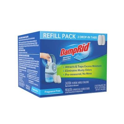 15.8 oz. Fragrance Free Drop-In Tab Moisture Absorber Refills (2-Pack)