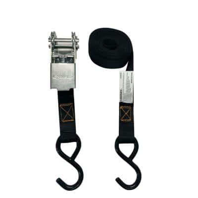 1 in. x 15 ft. Ratchet Tie-Down with S Hooks