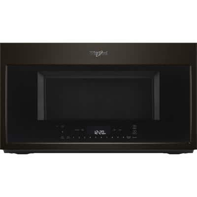 1.9 cu. ft. Smart Over the Range Convection Microwave in Fingerprint Resistant Black Stainless