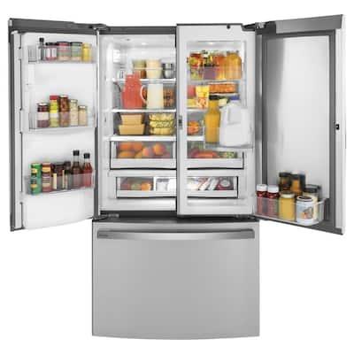 Profile 22.1 cu. ft. French Door Refrigerator with Door-in-Door in Fingerprint Resistant Stainless Steel, Counter Depth