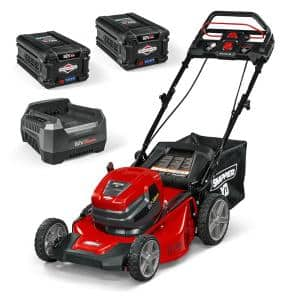 XD 21 in. 82-Volt Lithium-Ion Cordless Battery StepSense Walk Behind Self Propelled Mower Two 2.0 Batteries and Charger