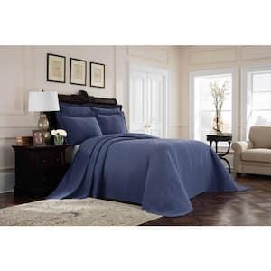 Williamsburg Richmond Blue Solid Full Coverlet