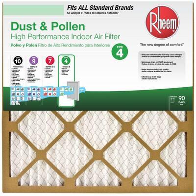 14 x 20 x 1 Basic Household Pleated MERV 8 - FPR 4 Air Filter (12-pack)