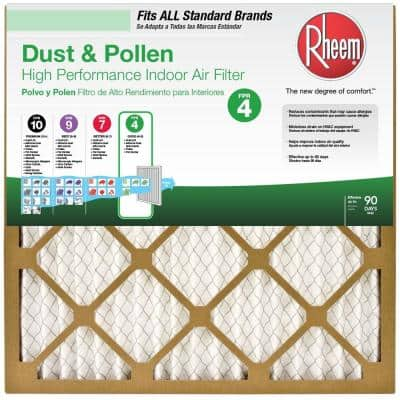 16  x 20  x 1  Basic Household Pleated FPR 4 Air Filter