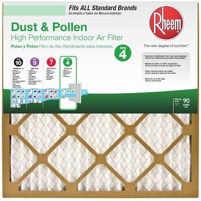 20 x 20 x 1 Basic Household Pleated MERV 8 - FPR 4 Air Filter (12-pack)