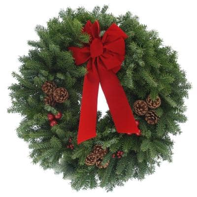 24 in. Balsam Fir Classic Fresh Wreath : Multiple Ship Weeks Available